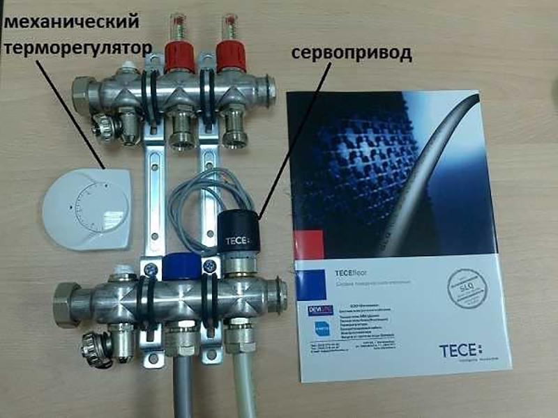 Так выглядит механический терморегулятор и сервопривод