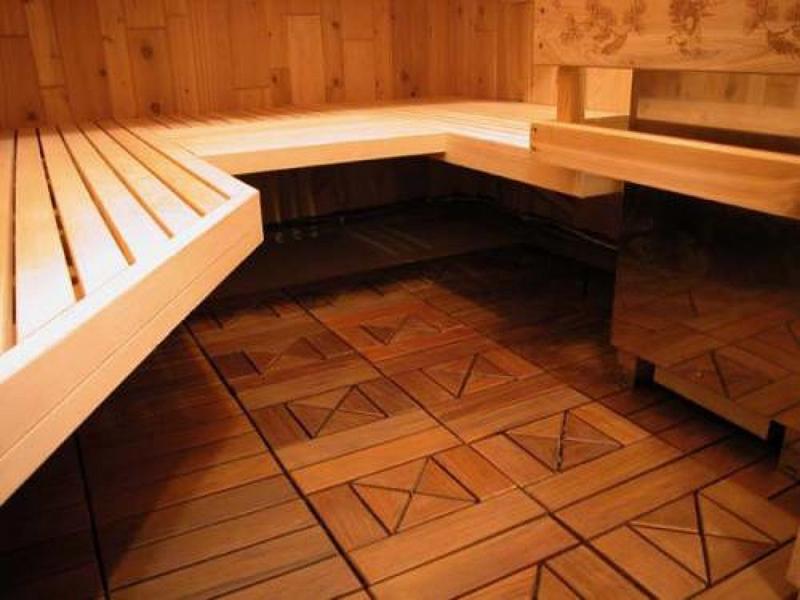 Теплый пол в бане