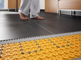 Водяной теплый пол с керамической плиткой