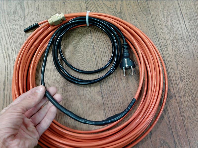 Примерно так выглядит готовый к работе кабель