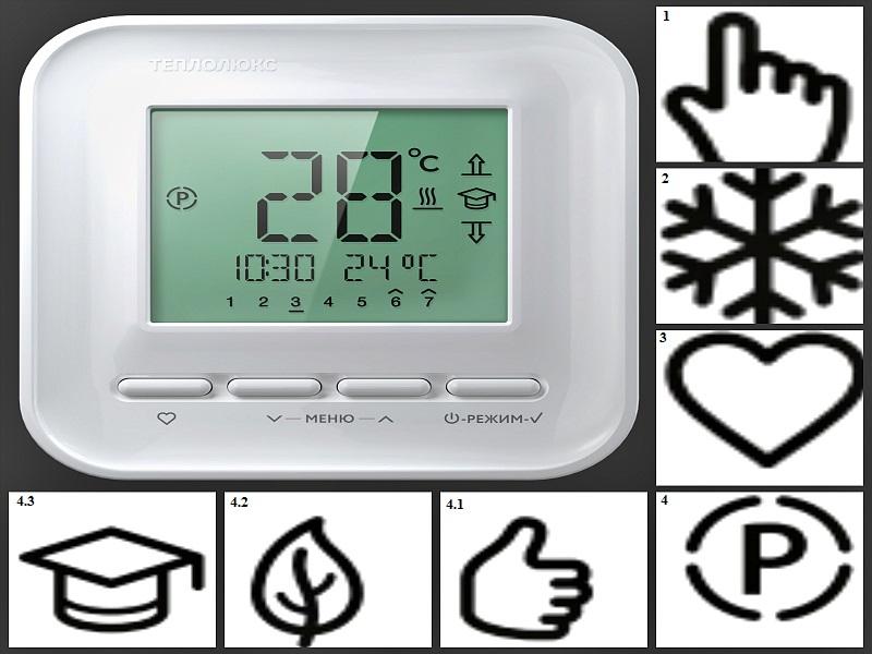 Виды режимов терморегулятора «Теплолюкс»