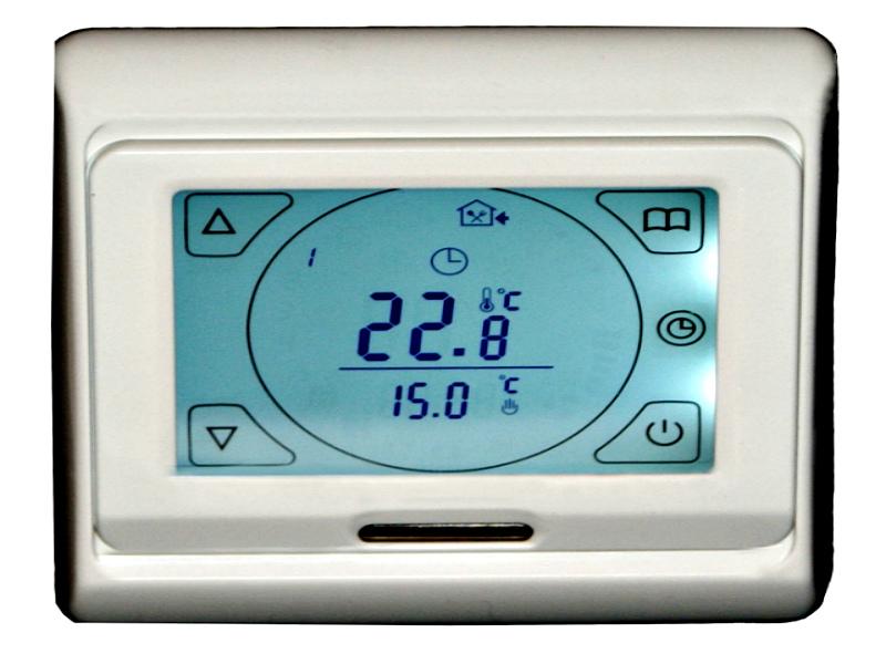 Дисплей, отображающий температуры внешнего и встроенного датчиков