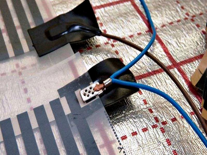 Присоединение кабеля к шине и его изоляция