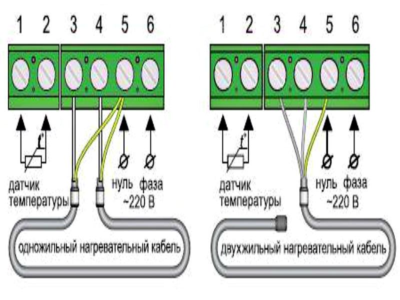 Схемы подключения теплого пола к терморегулятору