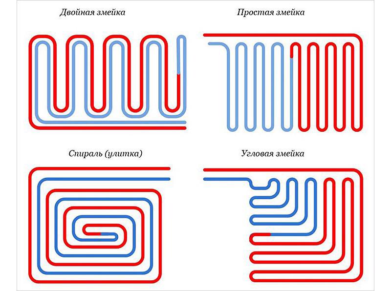 Схемы монтажа труб