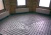 Внешний день конструкции теплого водяного пола