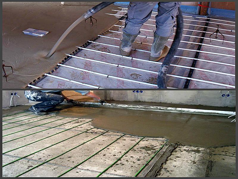 Заливка бетонной стяжки
