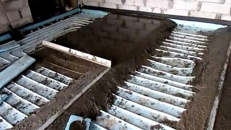 Монтаж теплого пола в гараже