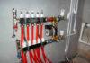 Гребенка с подключенными контурами отопления