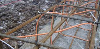 Укладка кабеля в арматуре