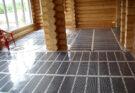 Теплый пол на даче на деревянный пол