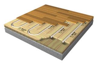 Водяной и электрический теплый пол на деревянный пол