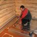 водяной теплый пол на деревянную основу